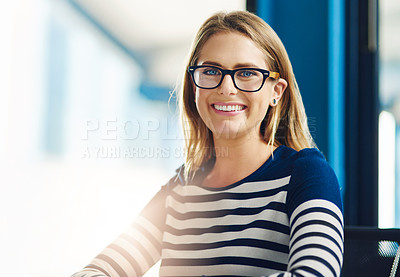 Buy stock photo Portrait of a confident young designer in an office