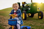 Forget dolls, give me a tractor any day