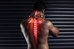 You don't push through spinal pain