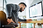 Sitting for too long can trigger unbearable back pain