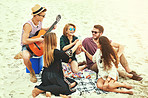 Playing some tunes on the beach