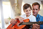 Sharing a love of music with his son
