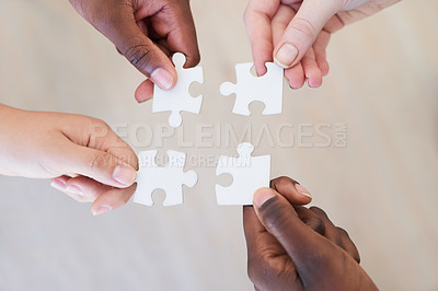Buy stock photo Cropped shot of a unified team