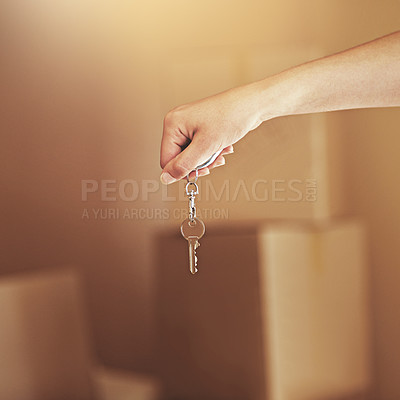 Buy stock photo Shot of people on moving day