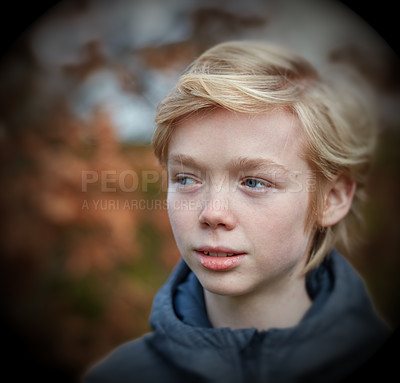 Buy stock photo A young teenager boy outdoor