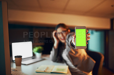 Buy stock photo Cropped shot of a stressed out businesswoman working late in an office