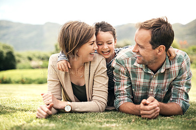 Buy stock photo Shot of a family spending the day together