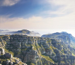 Images of the twelve apostles seen from Table Mountain - Cape Town