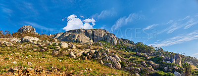 Buy stock photo Panorama of Lions Head - Table Mountain National Park, Cape Town, South Africa