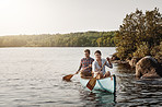 Life is one relaxing canoe ride