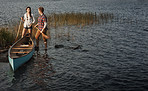 What better bonding experience than canoeing?