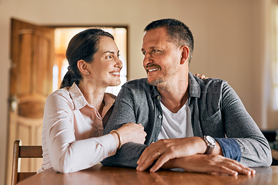 Buy stock photo Cropped shot of a married couple spending the day indoors