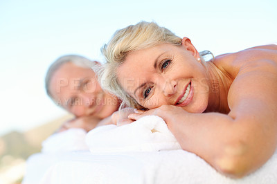Buy stock photo Shot of people at a spa