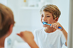 Brushing your teeth is an important routine