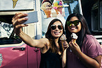 Selfie to show off our yummy ice creams
