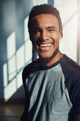 Buy stock photo Cropped portrait of a handsome young sportsman