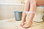 Flush with a bucket of water to save water