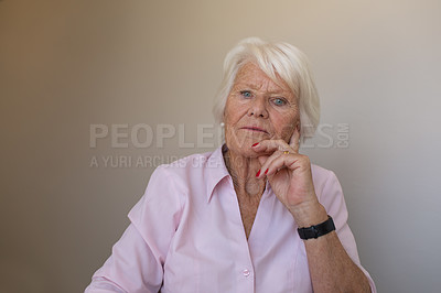 Buy stock photo Portrait of a senior woman in a retirement home