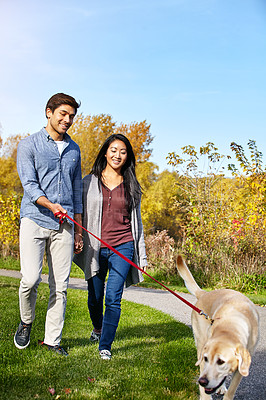 Buy stock photo Shot of young people outdoors