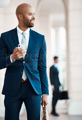 Buy stock photo Cropped shot of a young handsome businessman outside