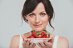 Strawberries cleanses the skin and keeps it healthy