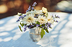 Fresh flowers create the perfect ambience for a tea party