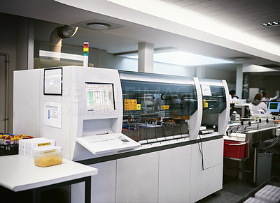 Buy stock photo Shot of a machine inside a laboratory