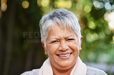 Buy stock photo Portrait of a mature woman outdoors