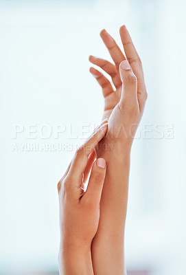 Buy stock photo Cropped shot of an unrecognizable woman's hands