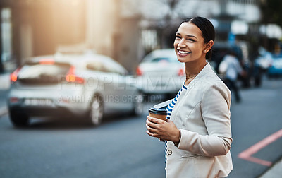 Buy stock photo Portrait of a young businesswoman in the city