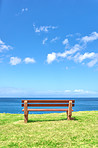Bench at the coast  - background