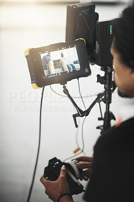 Buy stock photo Behind the scenes shoots of a video shoot