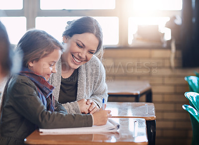 Buy stock photo Cropped shot of an elementary class