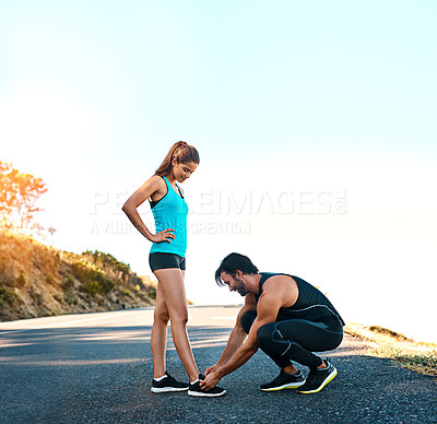Buy stock photo Shot of a young person exercising outdoors