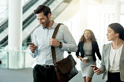 Buy stock photo Cropped shot of businesspeople in the workplace