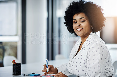 Buy stock photo Portrait of businesspeople working in a modern office