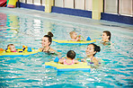 Swimming classes build water confidence