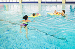 Swimmings helps develop their muscles and joints