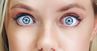 Buy stock photo Closeup beauty shot of a young woman's eye