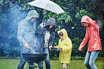 The weather won't stop their family fun