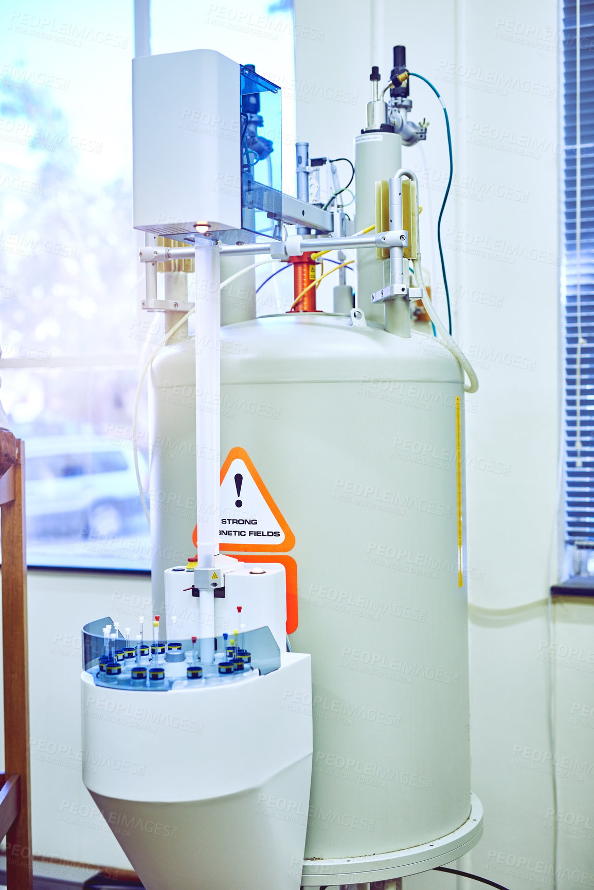 Buy stock photo Still life shot of a machine inside a laboratory