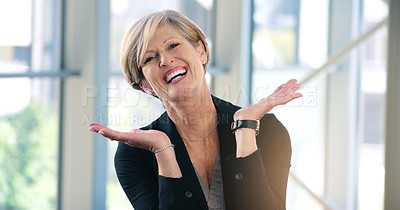 Buy stock photo Cropped shot of a mature businesspeople working in their corporate office
