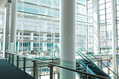 Buy stock photo Shot of the interior of a business building