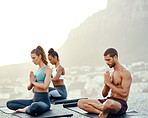 Serenity lies in the practice of yoga