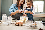 There's nothing more fun than baking with a child