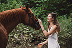 You can't be sad spending time with a horse