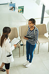 The consult begins from the moment the patient walks in