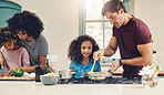 Cooking together creates stronger family relationships