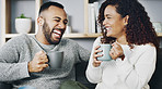 Sharing a good laugh over coffee