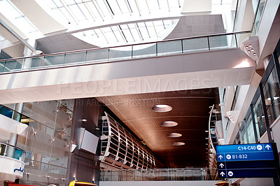 Buy stock photo Shot of the inside of an airport